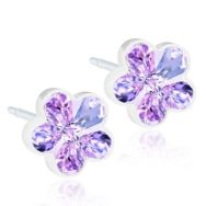 hypoallergenic-earrings-swarovski-crystal-flower-violet-6mm-medical-plastic-0-nickel-by-blomdahl-2-p